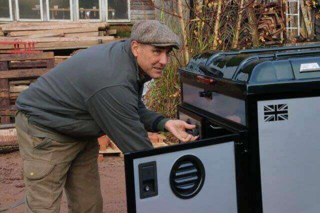 Vinnie Jones Inspecting Land Rover