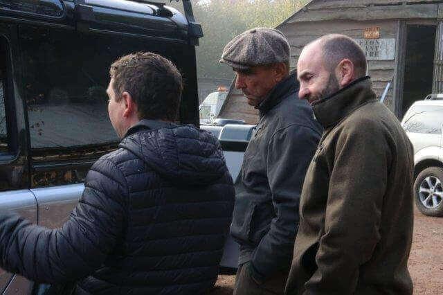 Vinnie Jones Inspecting His Land Rover