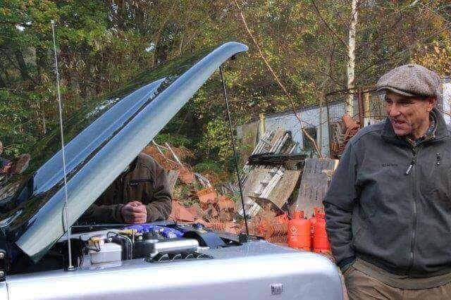 Vinnie Jones Inspecting under the Hood