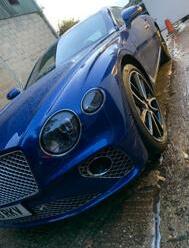 Bright Blue Bentley